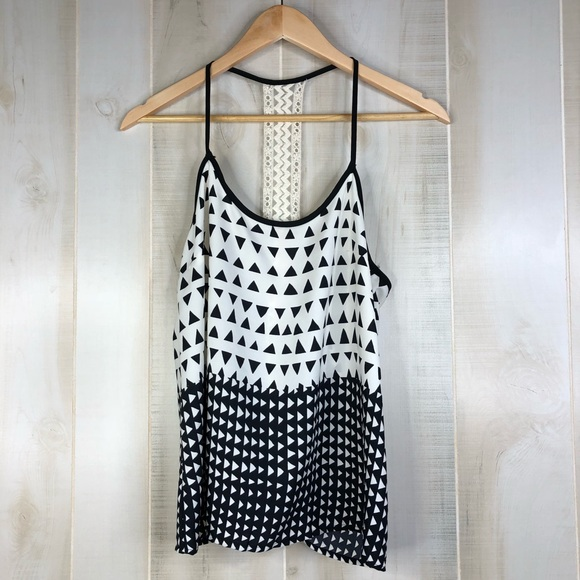 Sage Tops - Sage Tribal Halter Tank Top With Back Lace Detail